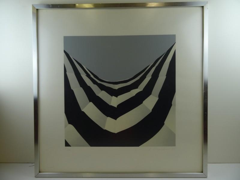 Cl Mulk?: genummerde druk van geometrisch abtract 1974