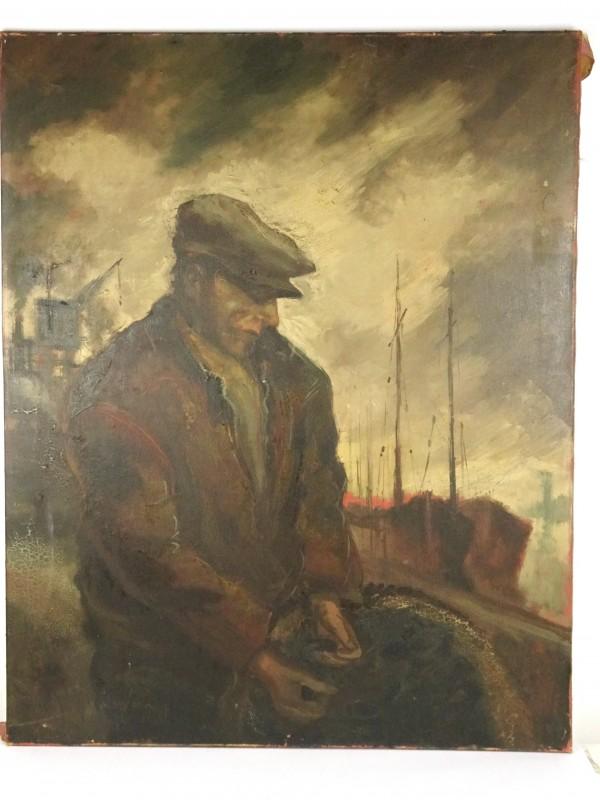 Vintage schilderij (Emile Lammens 1944)