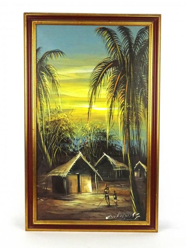 Artisanale Afrikaanse schilderij