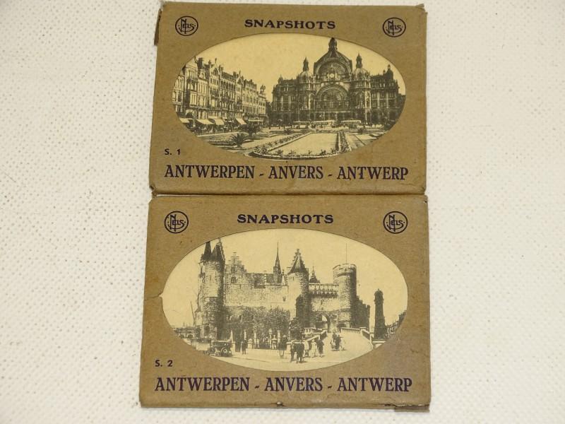 2 Mapjes Snapshots: Antwerpen, S1, S2, Midden 20e Eeuw