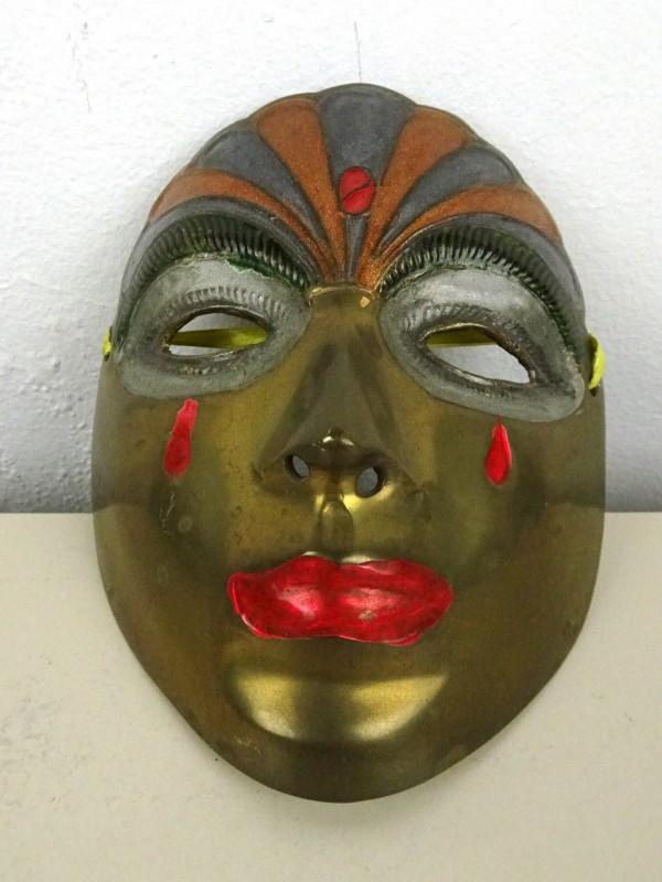 Koperen masker
