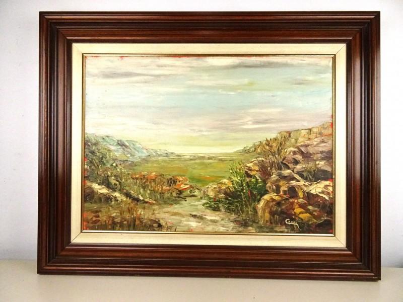 Schilderij landschap (Capri