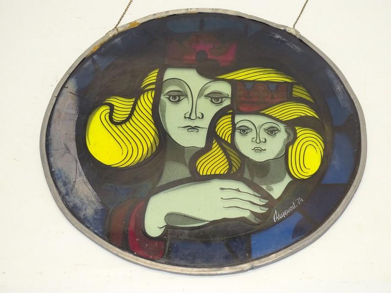 Gebrandschilderd Glas In Lood, Virga Jesse, Rappoort '74