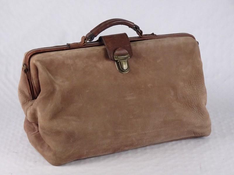 Vintage grote lederen (dokters?) tas.