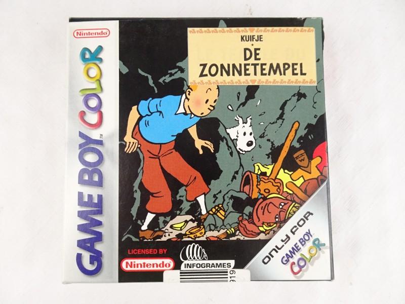 Game Boy Color spel Kuifje De Zonnetempel.