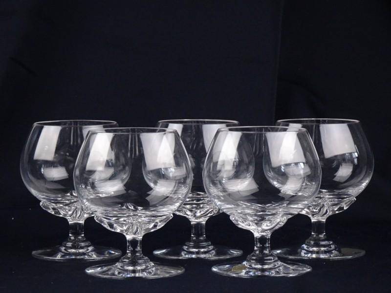 5 kristallen Val Saint Lambert glazen