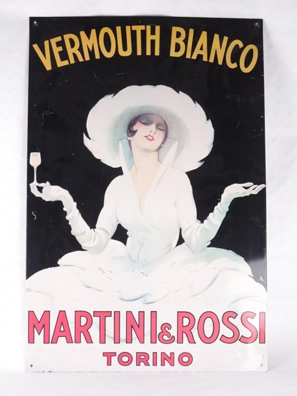 Martini & Rossi Torino Vermouth Bianco reclamebord.