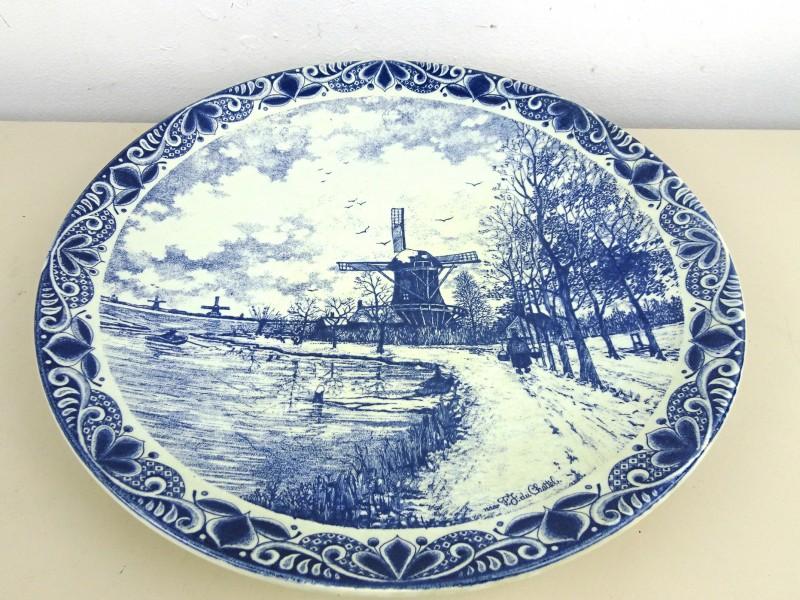 Vintage wandbord (Delfts-Blauw)