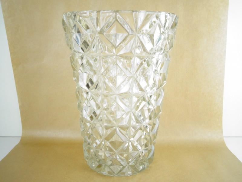 Vintage zware persglas vaas