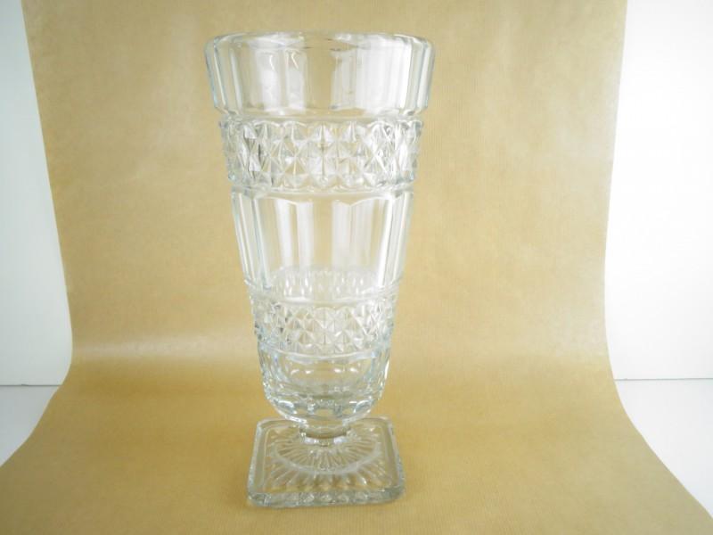 Vintage ranke persglas vaas op voet