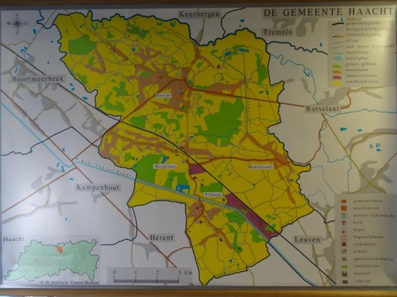kaart gemeente Haacht (school)