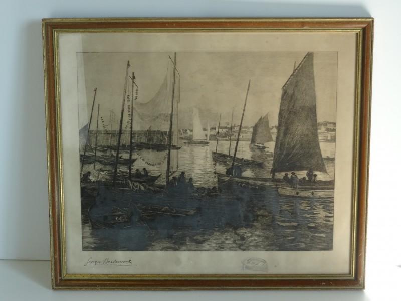George Macdeuwerk: ets van zeilschepen  20e eeuw