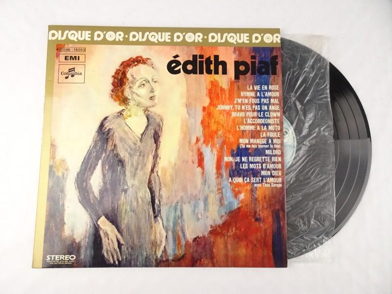 Vinyl album: Édith Piaf, Le Disque d'Or de Edith Piaf.