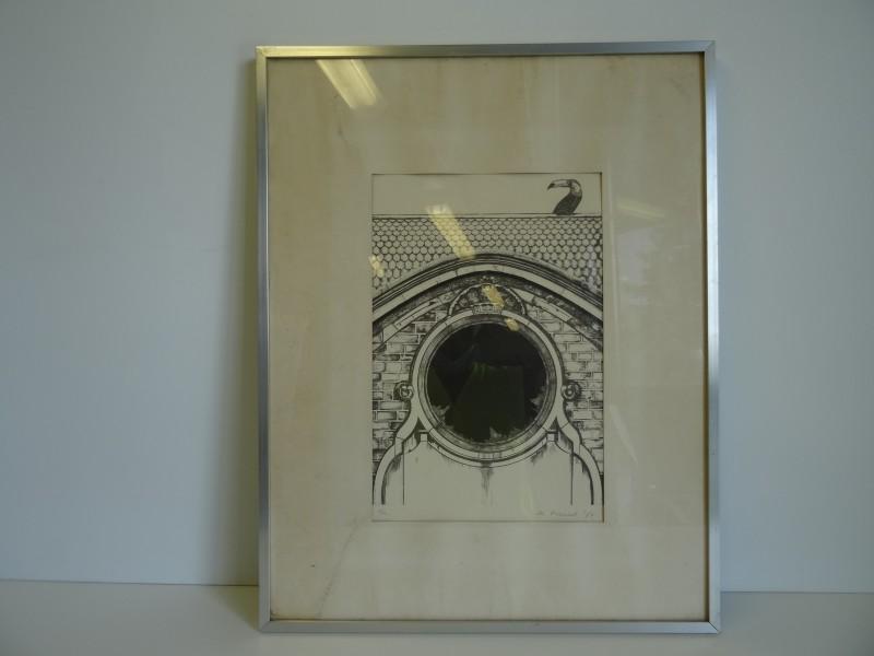 Magda Francot: 2 printen van tekeningen 1973 1974
