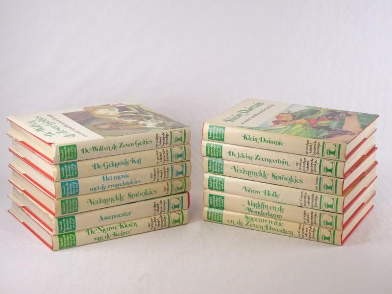 12 vintage dikke sprookjes boeken.