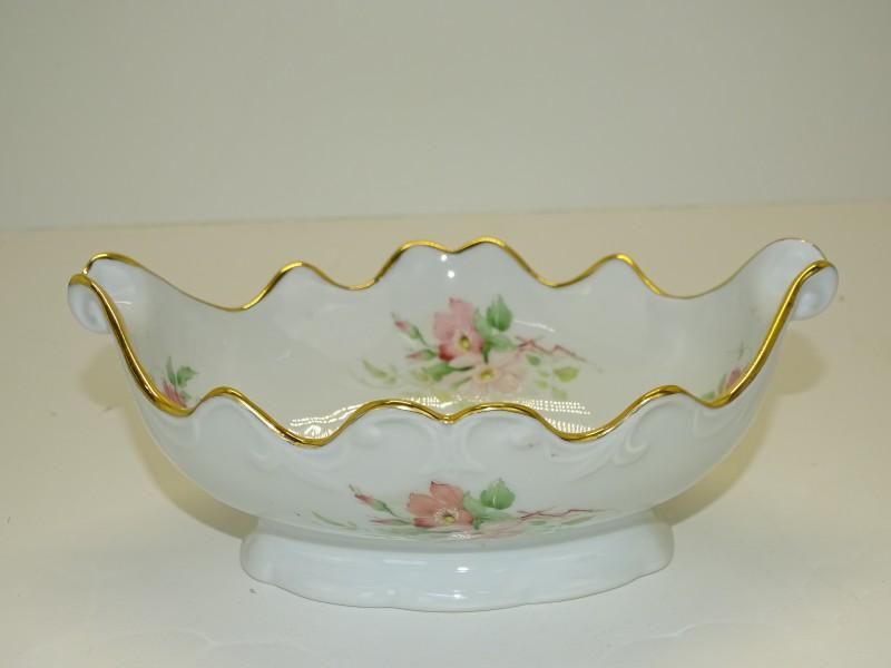 Porseleinen Schaal: Porcelaines Ternet, Limoges, France