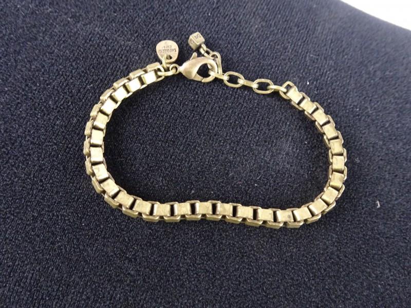 Dyrberg Kern armband met vierkante schakels.