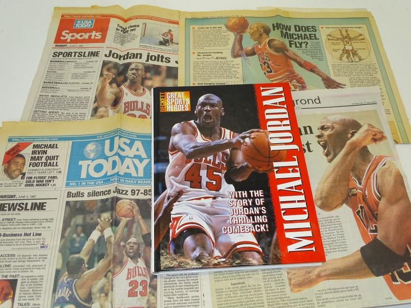 Boek: Great Sports Heroes: Michael Jordan, James Beckett, 1995