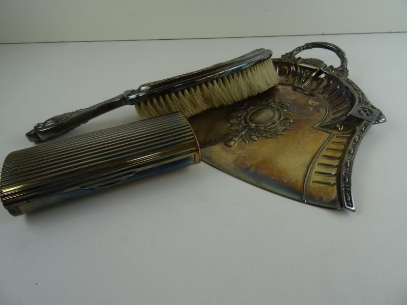 Art-Nouveau Tafelschuier set verzilverd
