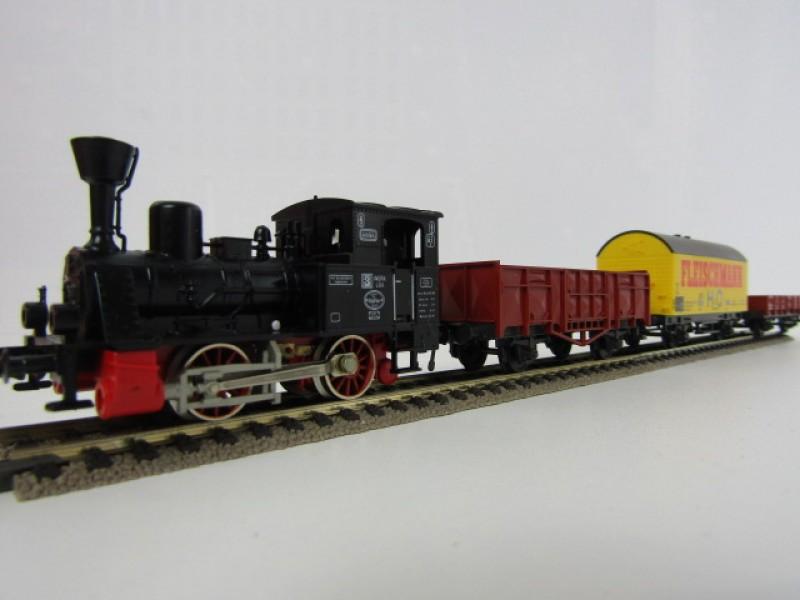 Modeltrein Fleischmann HO, startset (6365) + sets B , C en D