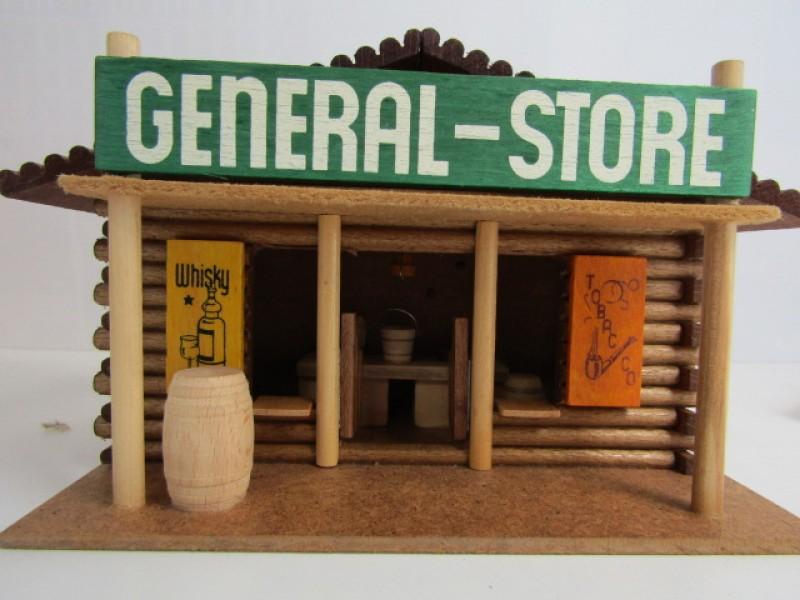 Vintage Houten Speelgoed, Oehme & Söhne, General Warehouse, western