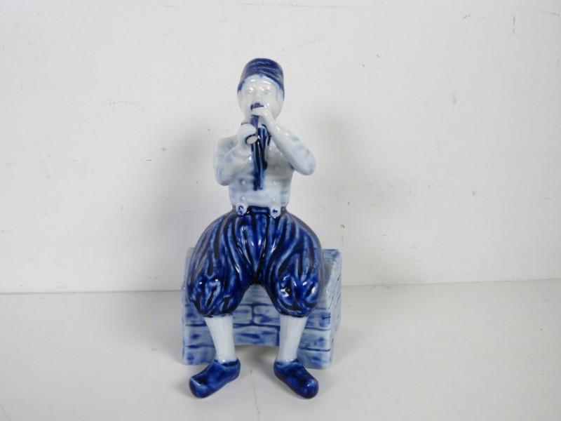 Porseleinen beeldje - Fluitspeler