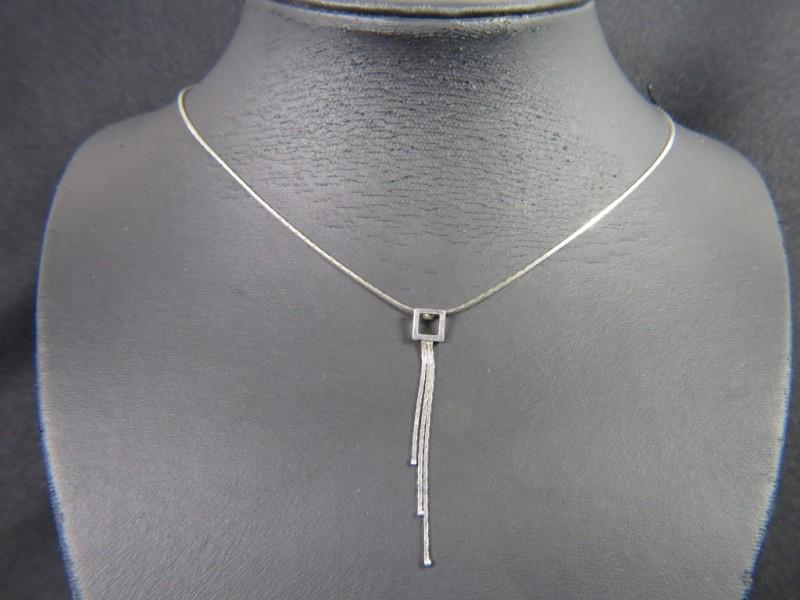Zilveren halsketting en hanger 925