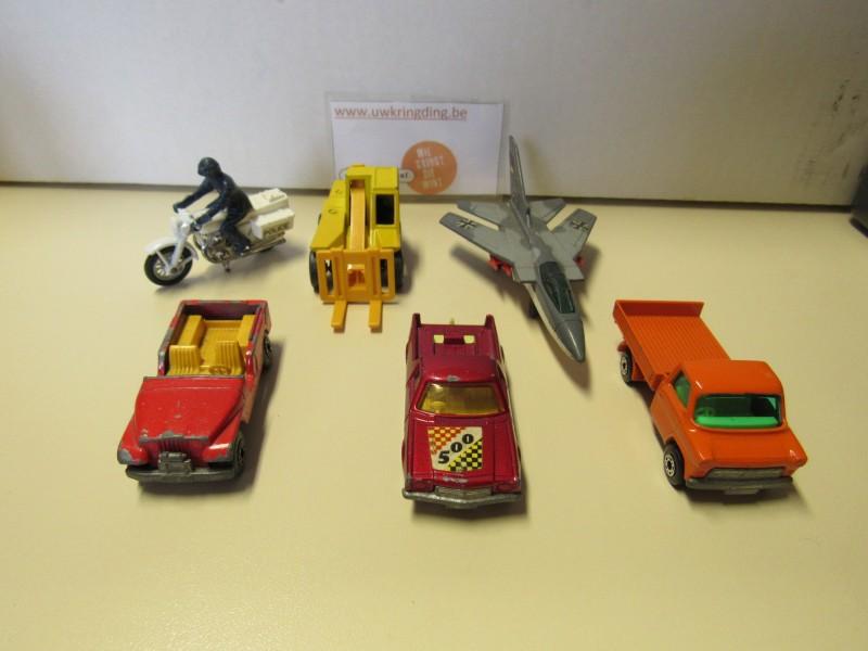 Lot van zes auto's - Matchbox - 1977