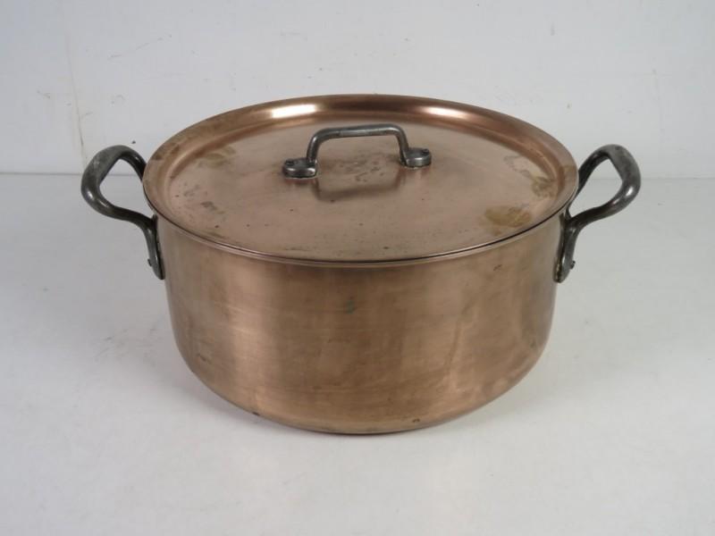 Koperen kookpot gemerkt Falk