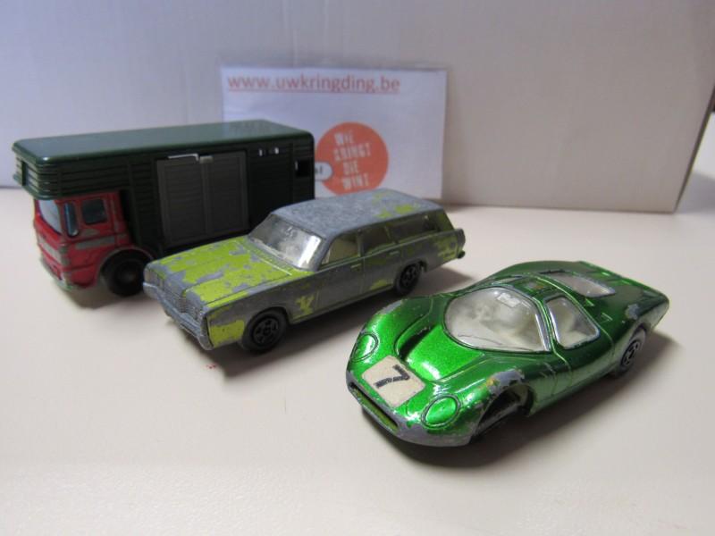 Lot van drie auto's - Matchbox - 1969