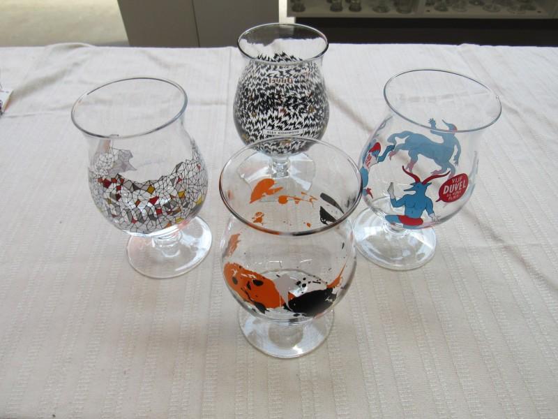 4 Duvel glazen uit de Art Collectie