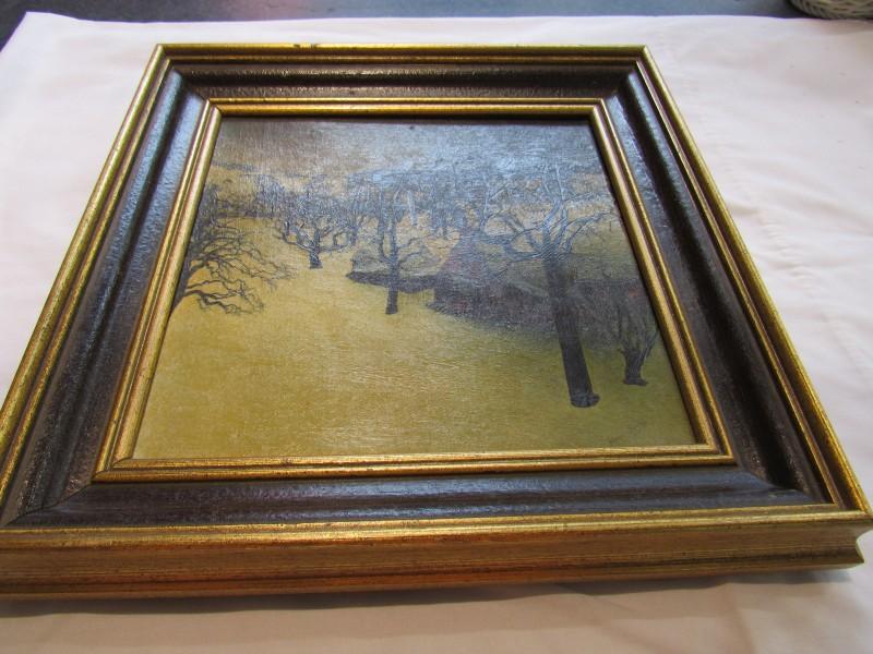 Valerius De Saedeleer - schilderij op doek - sneeuwlandschap