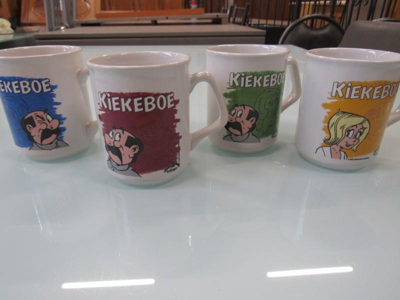 4 koffiemokken van Kiekeboe