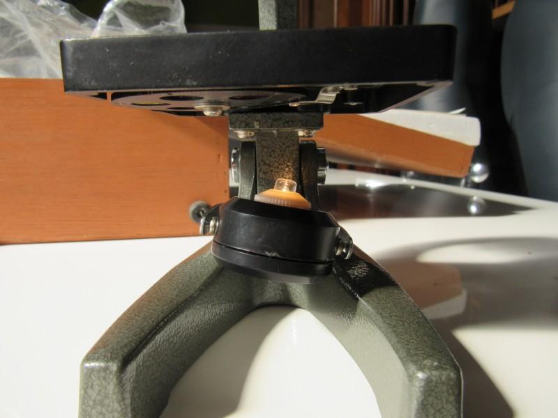 Viking microscoop in houten kist