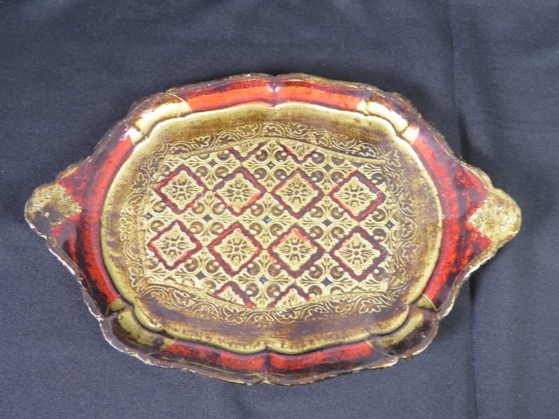 Vintage houten dienblad