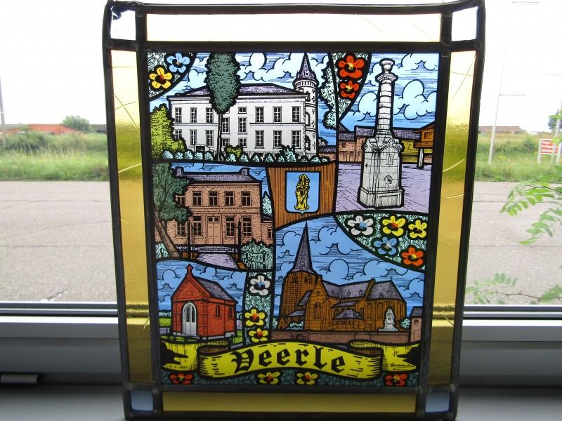 Gesigneerd Glas in Lood: Veerle, 1983