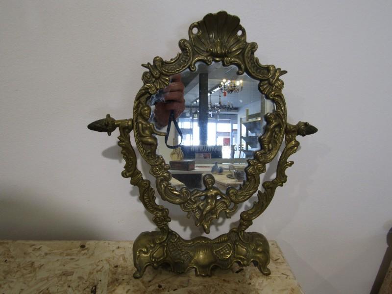 Messing Spiegel in Romantische Stijl
