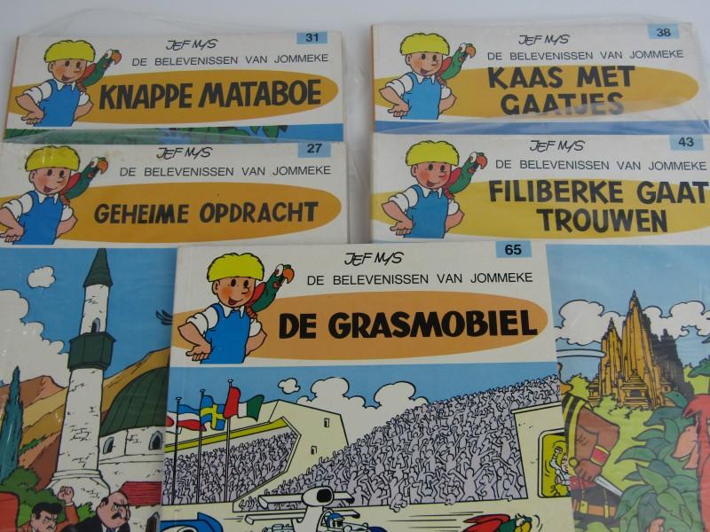 5 Stripalbums van: De Belevenissen van Jommeke,  Jef Nys