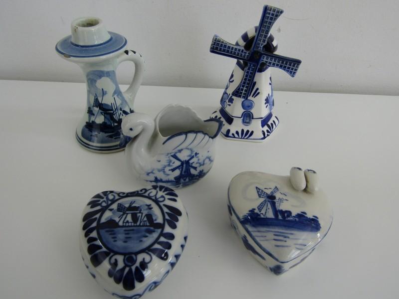 5-Delig setje: Delfts Blauw, Holland