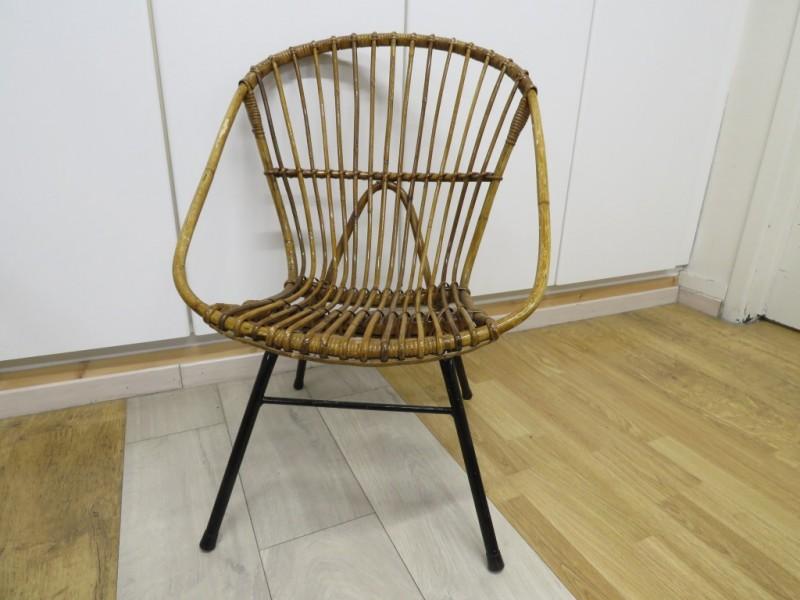 Vintage Rohe Noordwolde rotan stoel