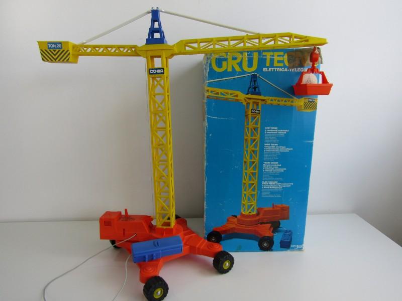 Grote Retro Speelgoed Kraan: Tecno / Co-ma, Italy, 1983
