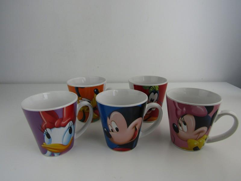 5 Disney Tassen / Mokken, 15 Jaar Disneyland Parijs, 2007