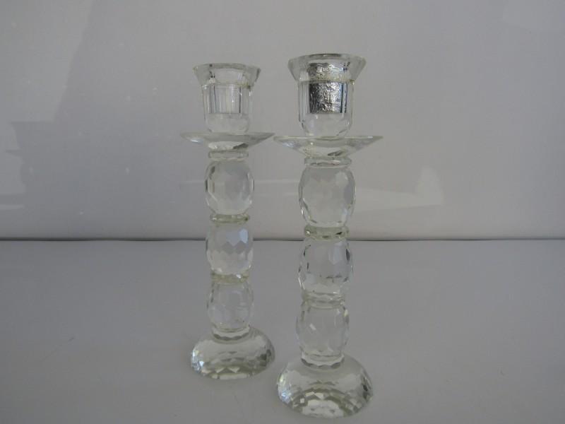 2 Kristallen Kandelaars