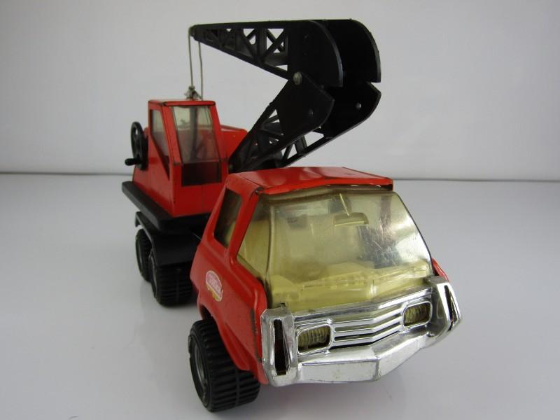 Vintage Tonka Vrachtwagen met Kraan