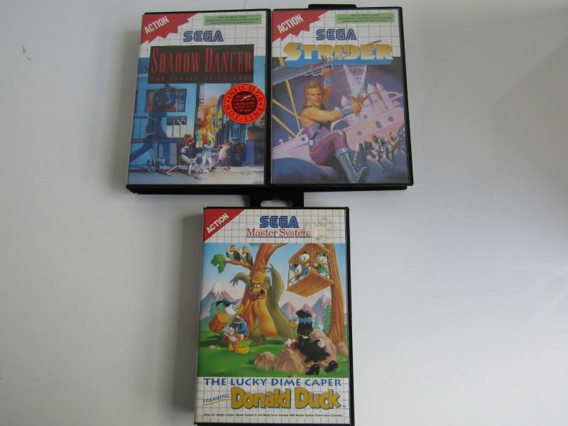 3 x Action Spelletjes van Sega Master System