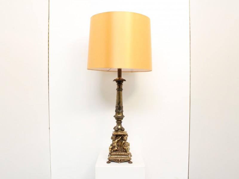 Tafellamp: Engelen in Messing