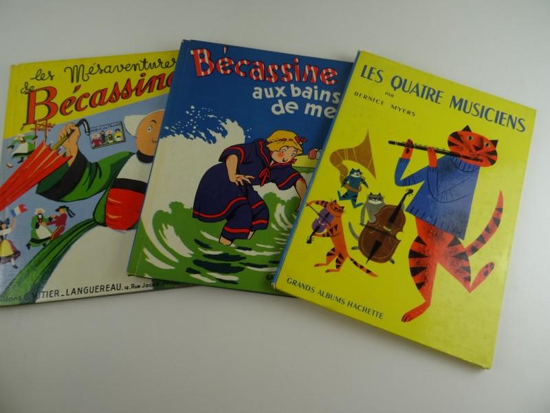 J.P. Pinchon: 2 herdrukken van Becassine 1958 + kinderboek 1957 met tekeningen van B Myers