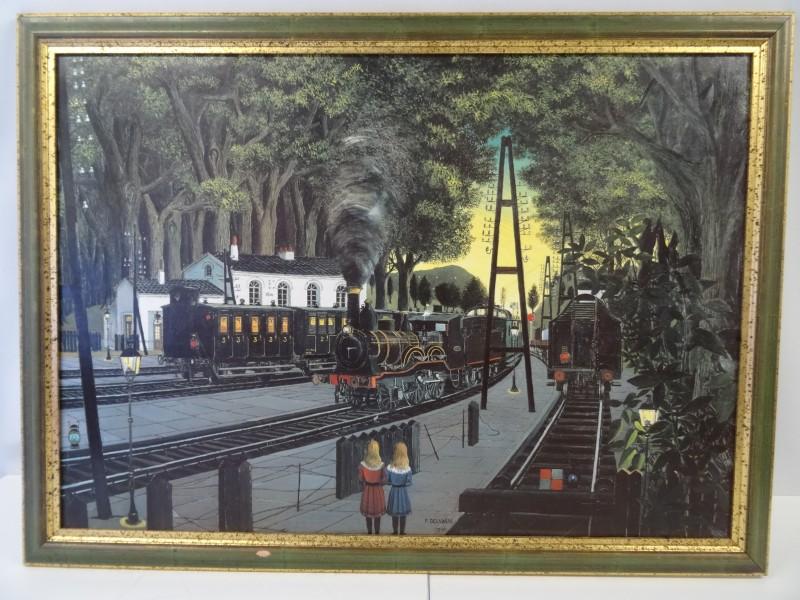 Duplicaat P.Delvaux - het station van Bosvoorde -