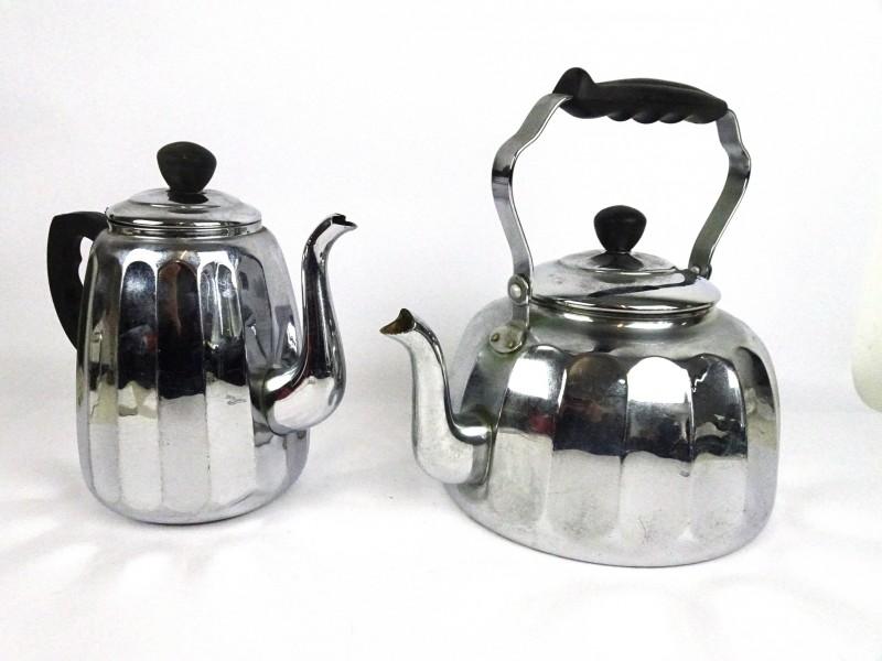 Vintage ketel & koffiepot (REIN KUPFER)