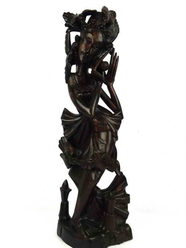 Houten Aziatische beeld (danseres)